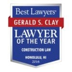 Lawyer of the Year 2016 Award Gerald Clay