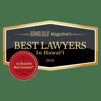 Best Lawyer Honolulu 2019